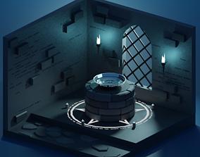 3D model Sanctuary - Lowpoly