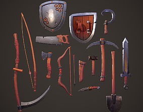 Stylized PBR Tools Pack 3D asset