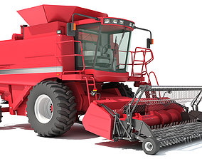 3D farm Combine Harvester