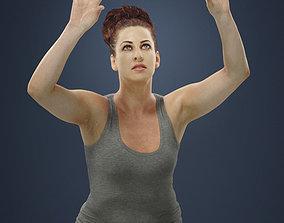 3D model Yvette Sportswear Skirt Woman playing volleyball
