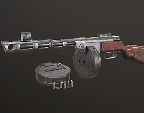 PPSH-41 submachine gun 3D model