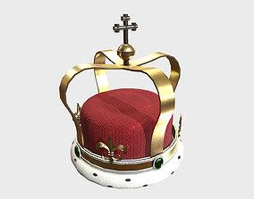 Low Poly PBR Royal Crown 3D asset