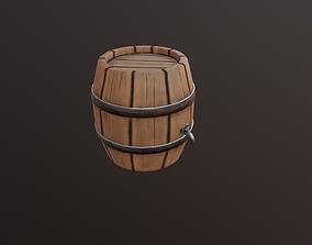 low poly Barrel 3D model low-poly
