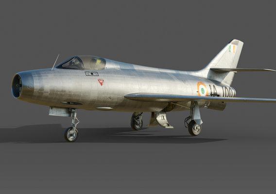 MYSTERE IV,IA 1007,1er Squadron. INDIA.