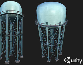 Metal Water Tower 3D model