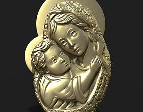 Mary and Jesus child pendant 3D printable model