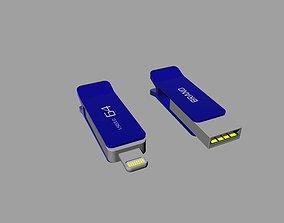 3D printable model Blue and black OTG U Disk A