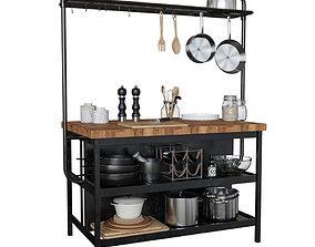IKEA VADHOLMA Kitchen table-island 3D