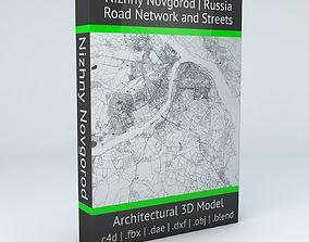 3D model Nizhny Novgorod Road Network and Streets