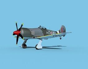 Hawker Tempest MKII V04 RAF 3D model