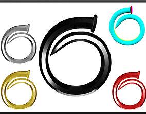3D model low-poly Nail Ring