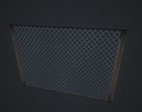 3D model Old Rusted Metal Fence