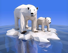 3D model Low Poly Polar Bear