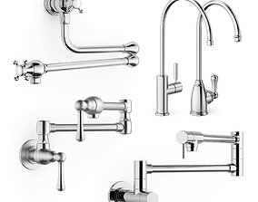 3D model Pot fillers and filter taps