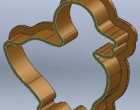 Little duck Ester cookie cutter 3D printable model