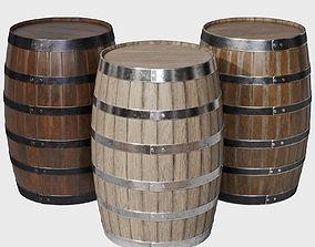 3D Wooden Barrel 8k