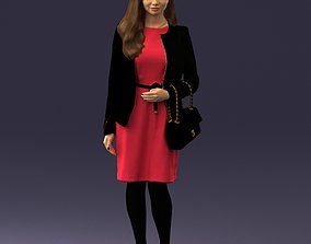 3D Woman with bag 0125
