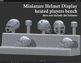 Miniature Helmets Display Diorama - 3D printable model 3