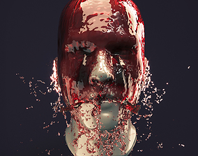 3D Splash Head 9