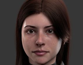 3D model Bust girl medieval