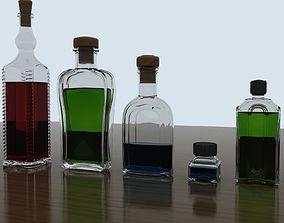 Bottle collection 3D model