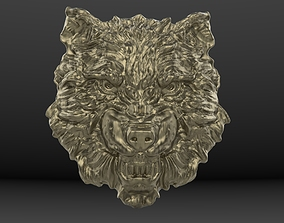 3D print model wolf relief