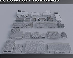 3D asset Warehouses Buildings Collection