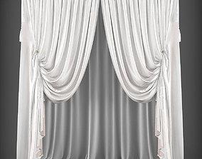 VR / AR ready Curtain 3D model 244