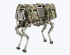 BigDog Robot Boston Dynamics 3D model