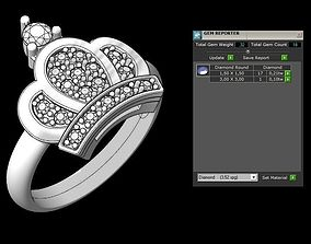 crown ring rings engagement 3D printable model