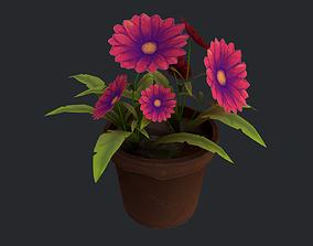 3D model low-poly Flower 02