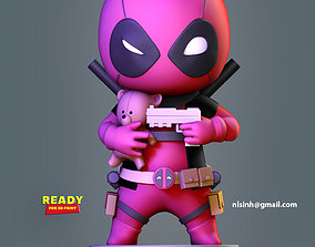 Deadpool Chibi 3D printable model