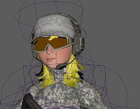 3D asset Anime Soldier