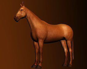 Horse Rigged and Textured-poly 3D rigged VR / AR ready