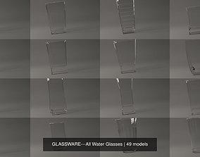 3D GLASSWARE---All Water Glasses