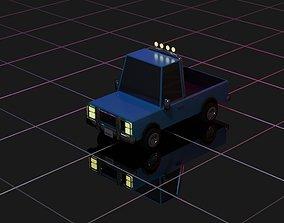 3D asset Low Poly Pickup Truck