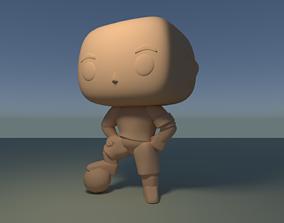Custom Pop Soccer Player Figure 3D Print DIY