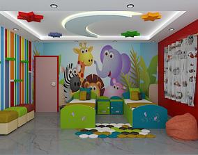 kids bedroom interior 3D