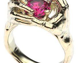hand of hand ring diamond - wedding ring 3D print model