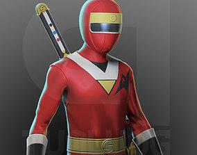 3D printable model Red Kakuranger - Ninja Sentai- Japanese