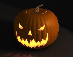 Jack-o-lantern 3D pumpkin thresher