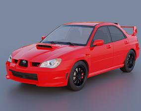 Subaru Impreza WRX STI 2006 3D model PBR