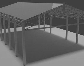 Hangar architecture 3D