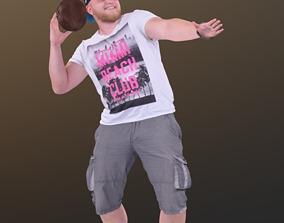 Peter 10197 - Playing Football Guy 3D asset