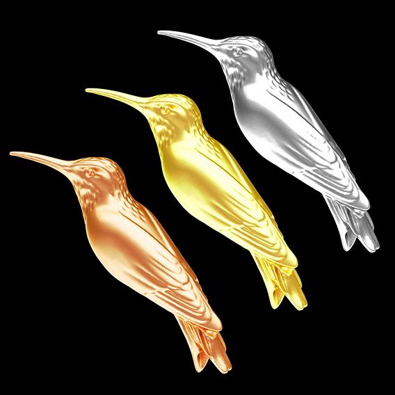Hummingbird gold 3d model V2 3D print model