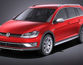 3D model Volkswagen Golf Alltrack 2016 VRAY
