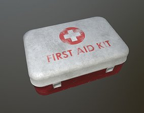 3D asset VR / AR ready First Aid Kit Dirt
