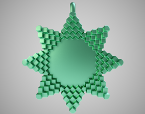 3D printable model Octagonal Star Necklace