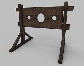 Medieval Pillory 3D asset