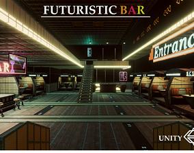 3D model Artsate - Futuristic Bar Environment